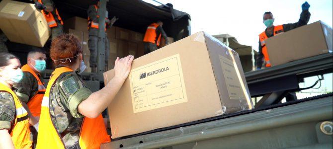 Empieza la distribución del material sanitario donado por Iberdrola
